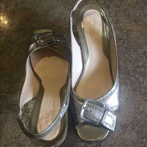 Cole Haan 6 1/2 B Gold Metallic Slingback Sandal